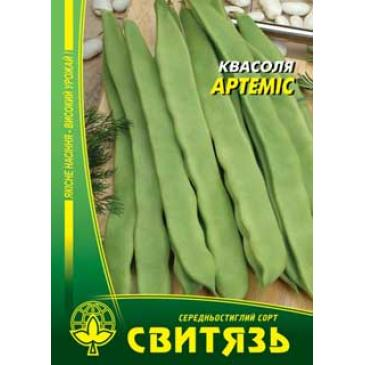 Квасоля спаржева кущова зелена Артеміс 15 г фото 1