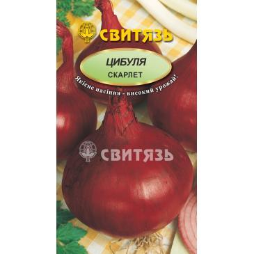 Насіння цибуля рiпч.червона Скарлет, 2г фото 1