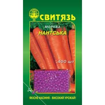 Морковь столовая дражированная среднеспелапя Нантская, 400 сем. фото 1