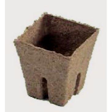 Горщик торф'яний квадратний JIFFI, 8 х 8 см фото 1