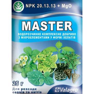 Добриво мінеральне Master Для розсади овочів та квітів 25 г