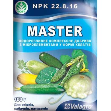 Удобрение минеральное Master NPK 22.8.16 Для огурцов, кабачков, патиссонов, 100 г фото 1