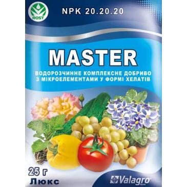Добриво мінеральне Master NPK 20.20.20 Люкс, 25 г фото 1