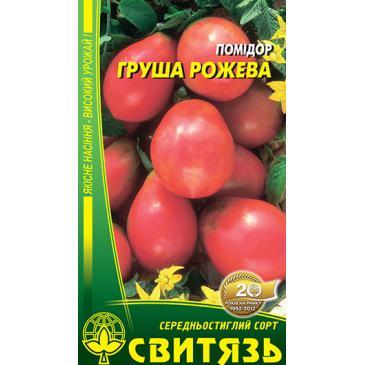 Томат індетермінантний (високорослий ) Груша рожева, 0,1 г фото 1