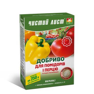 Удобрение минеральное Чистый лист N16: P8: K18,7 Для томатов и перца, 300 г фото 1
