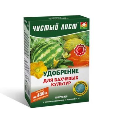 Удобрение минеральное Чистый лист N10: Р20: К20 Для бахчевых растений, 300 г фото 1