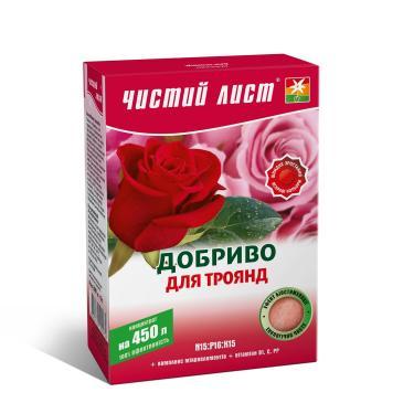 Удобрение минеральное Чистый лист N15: P16: K15 Для роз, 300 г фото 1