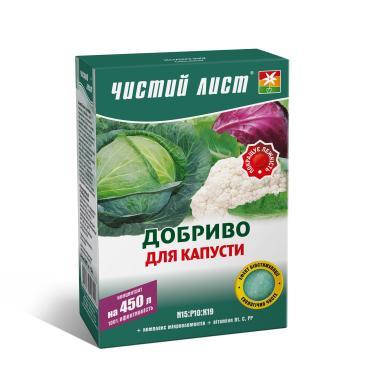 Удобрение минеральное Чистый лист N15: P10: K19 Для капусты, 300 г фото 1