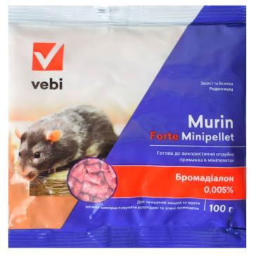 Родентицид Мурин Форте (минипеллеты от грызунов), 100 г фото 1