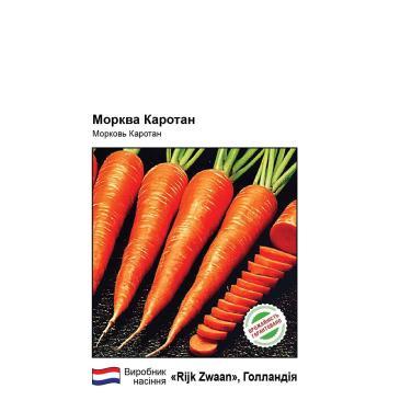 Семена Морковь столовая позднеспелая Каротан, 1 г фото 1