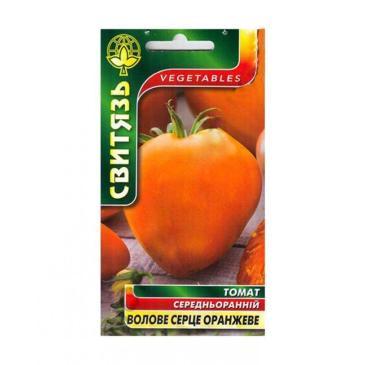 Томат высокорослый (индетерминантный) Бычье сердце оранжевое, 0,1 г фото 1