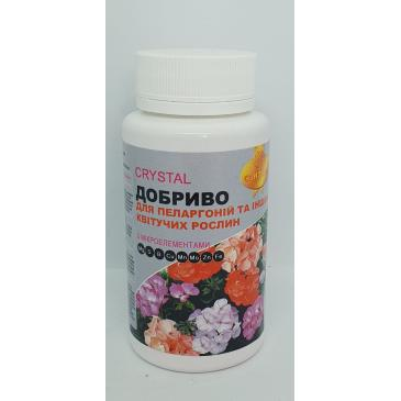 Добриво Kristal / для пеларгоній, інших квітучих, NPK 12-12-36+мікро, 150 г фото 1